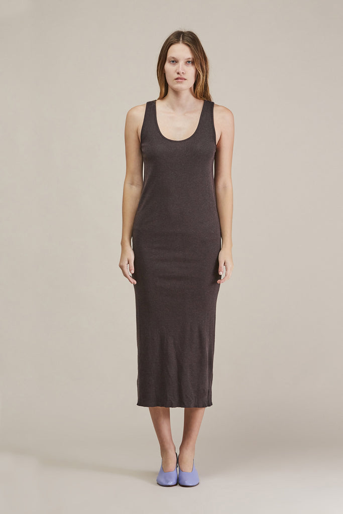 Cashmere rib dress, Charcoal by Lauren Manoogian @ Kick Pleat - 2
