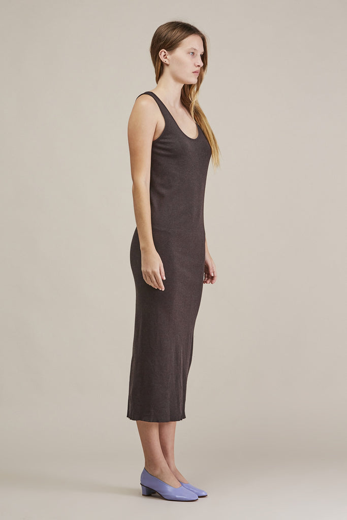 Cashmere rib dress, Charcoal by Lauren Manoogian @ Kick Pleat - 3