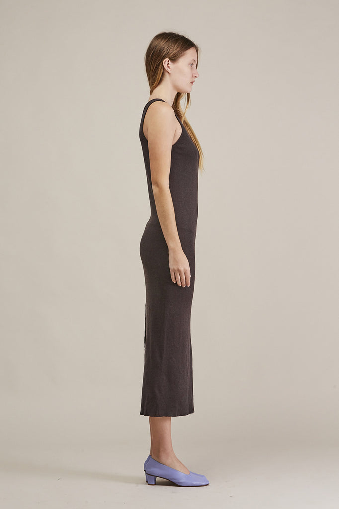 Cashmere rib dress, Charcoal by Lauren Manoogian @ Kick Pleat - 4