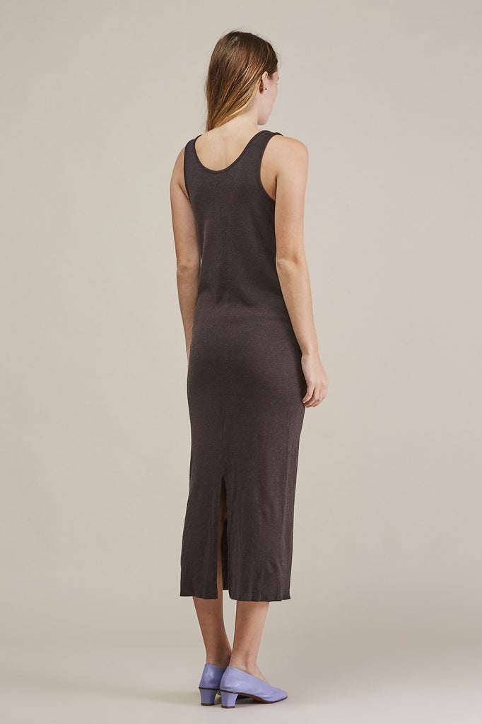 Cashmere rib dress, Charcoal by Lauren Manoogian @ Kick Pleat - 5