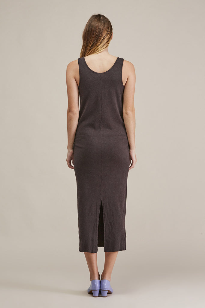 Cashmere rib dress, Charcoal by Lauren Manoogian @ Kick Pleat - 6