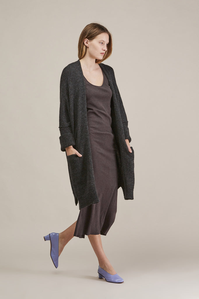 Cashmere rib dress, Charcoal by Lauren Manoogian @ Kick Pleat - 1