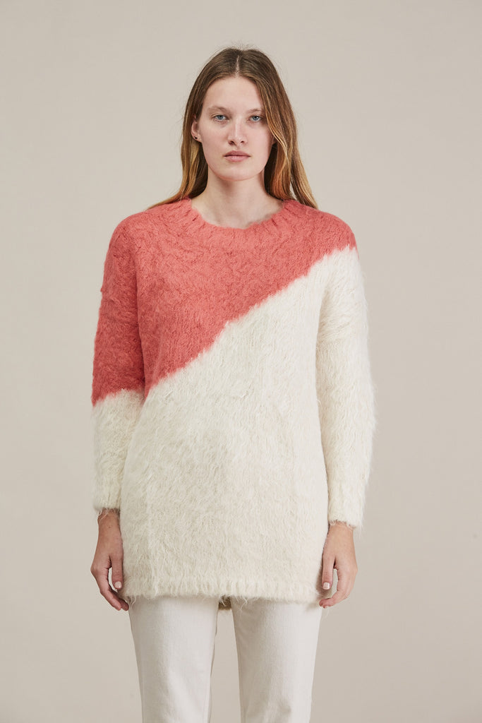 Alexis Pullover, Ivory/Coral by Rachel Comey @ Kick Pleat - 2