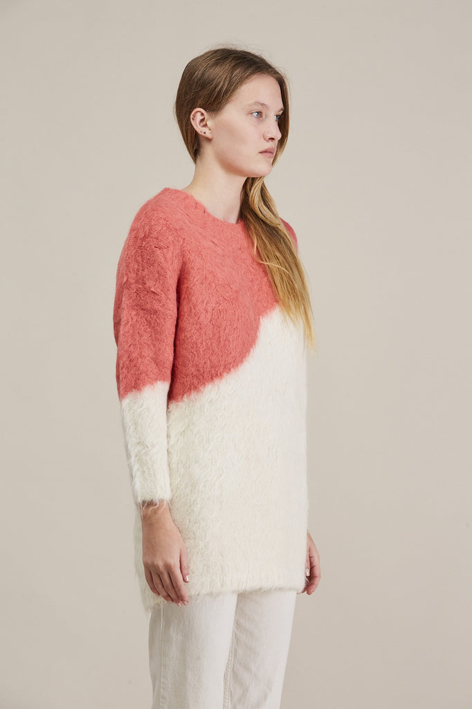 Alexis Pullover, Ivory/Coral by Rachel Comey @ Kick Pleat - 3