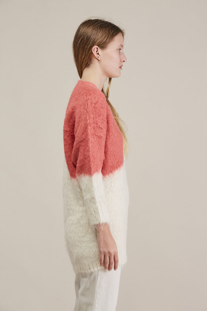 Alexis Pullover, Ivory/Coral by Rachel Comey @ Kick Pleat - 4