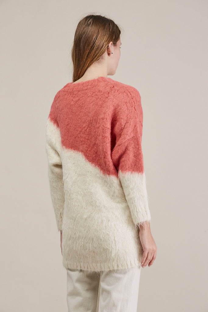 Alexis Pullover, Ivory/Coral by Rachel Comey @ Kick Pleat - 5