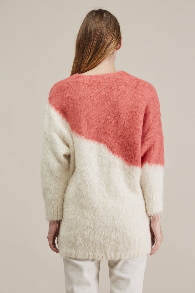 Alexis Pullover, Ivory/Coral by Rachel Comey @ Kick Pleat - 6