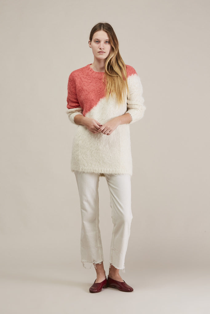 Alexis Pullover, Ivory/Coral by Rachel Comey @ Kick Pleat - 1
