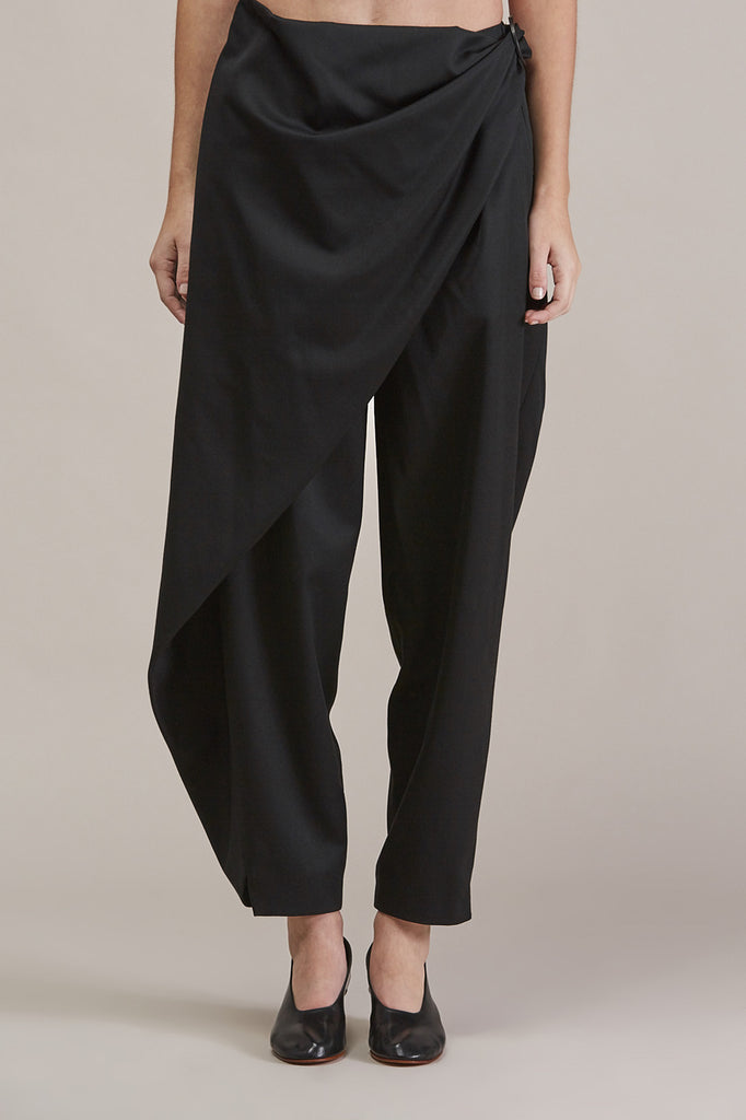 Sprout Bottom, Black by Issey Miyake @ Kick Pleat - 3