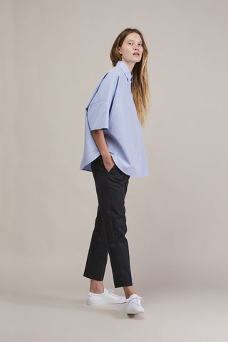 Circle button down shirt, Blue