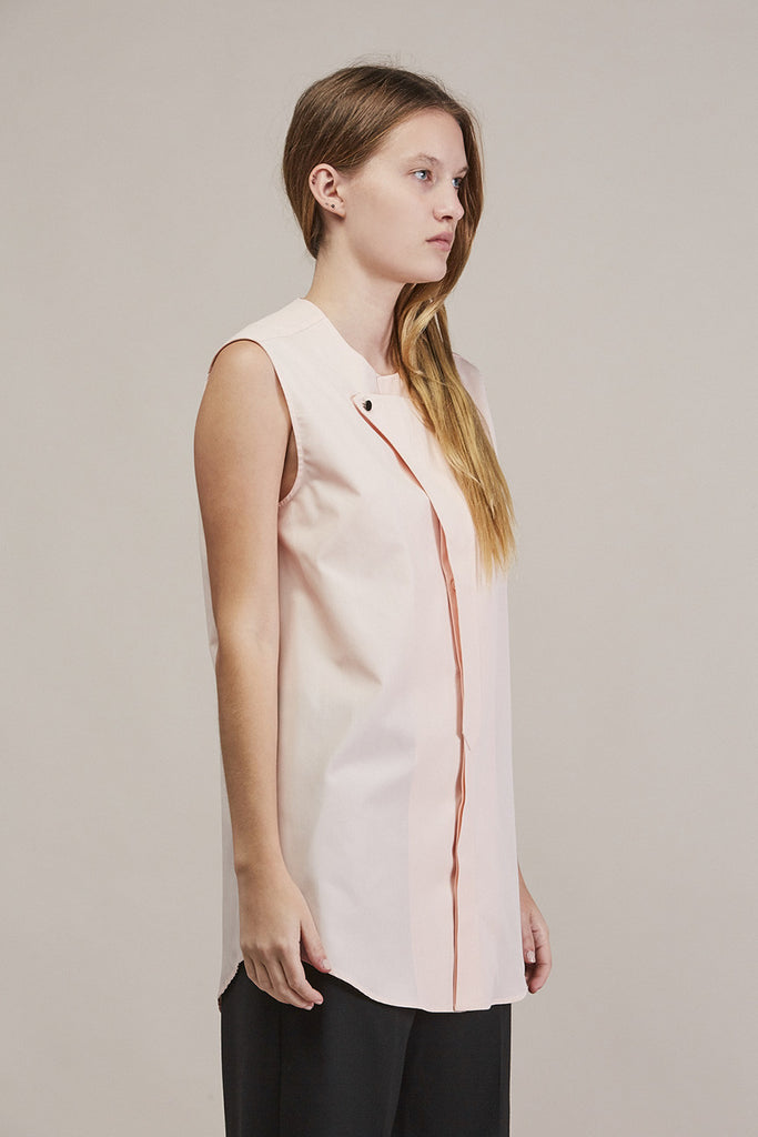 Sleeveless button down by JIL SANDER @ Kick Pleat - 3