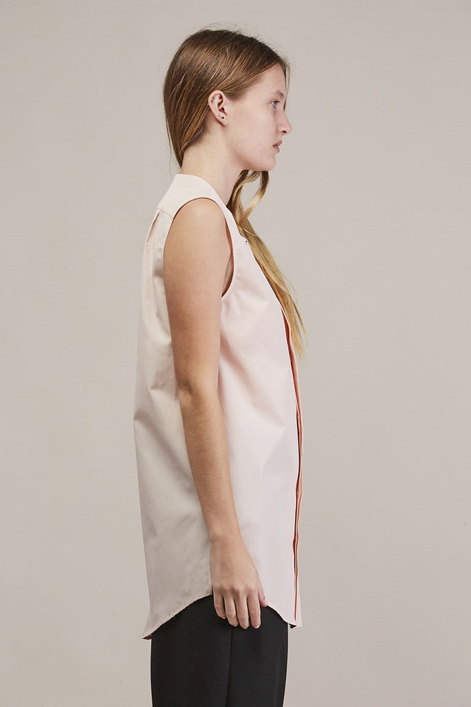 Sleeveless button down by JIL SANDER @ Kick Pleat - 4