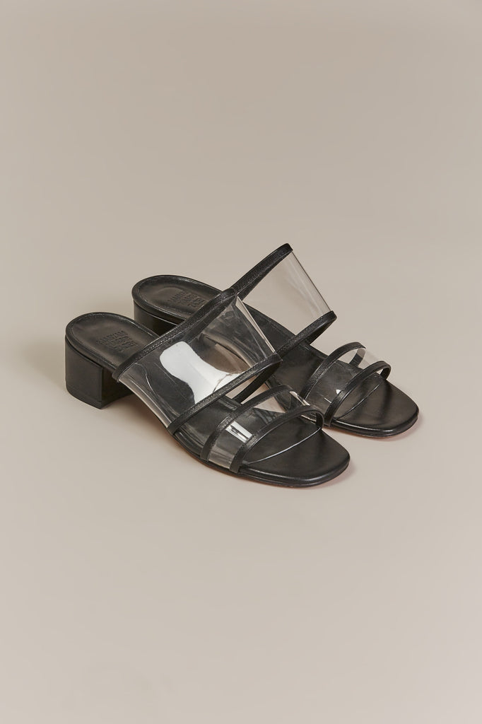 Martina Clear Slide, Black