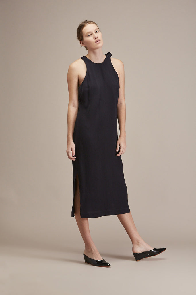 Shoulder Tie Midi Dress by Nomia