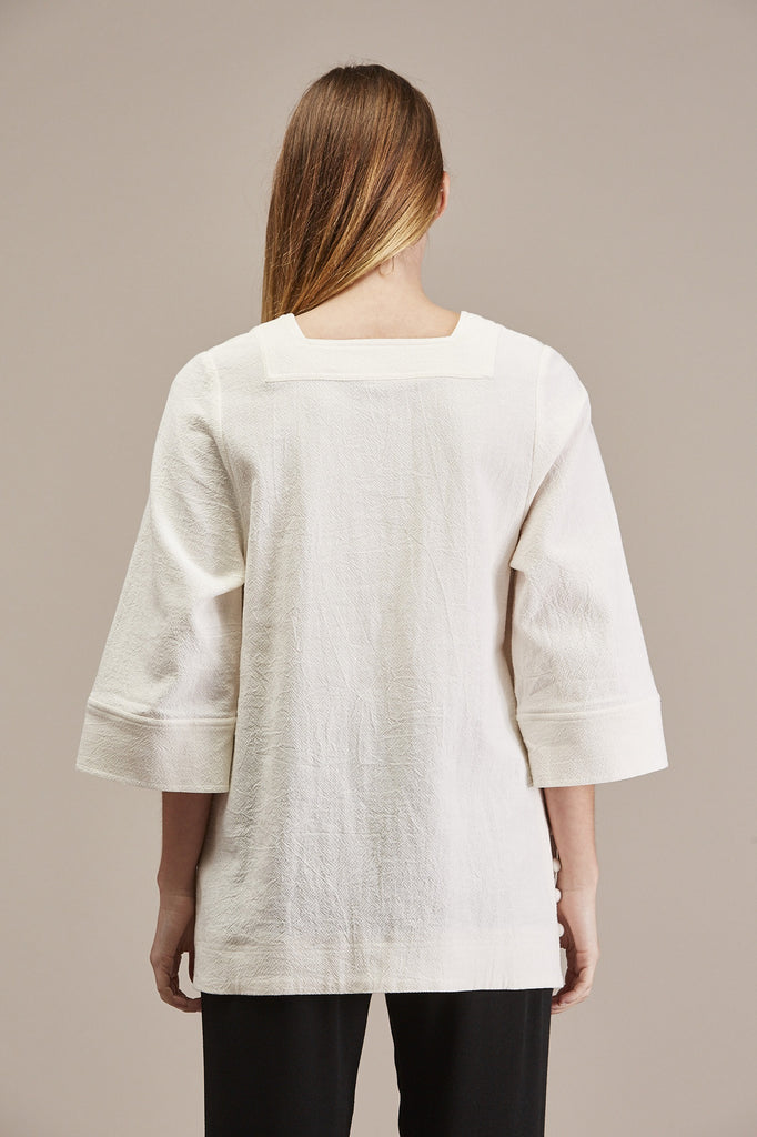 Arizona Popcorn Tunic, Cream by Apiece Apart