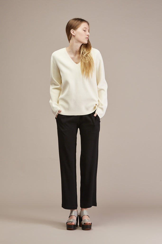 Pernille V-neck Sweater by Won Hundred @ Kick Pleat - 3