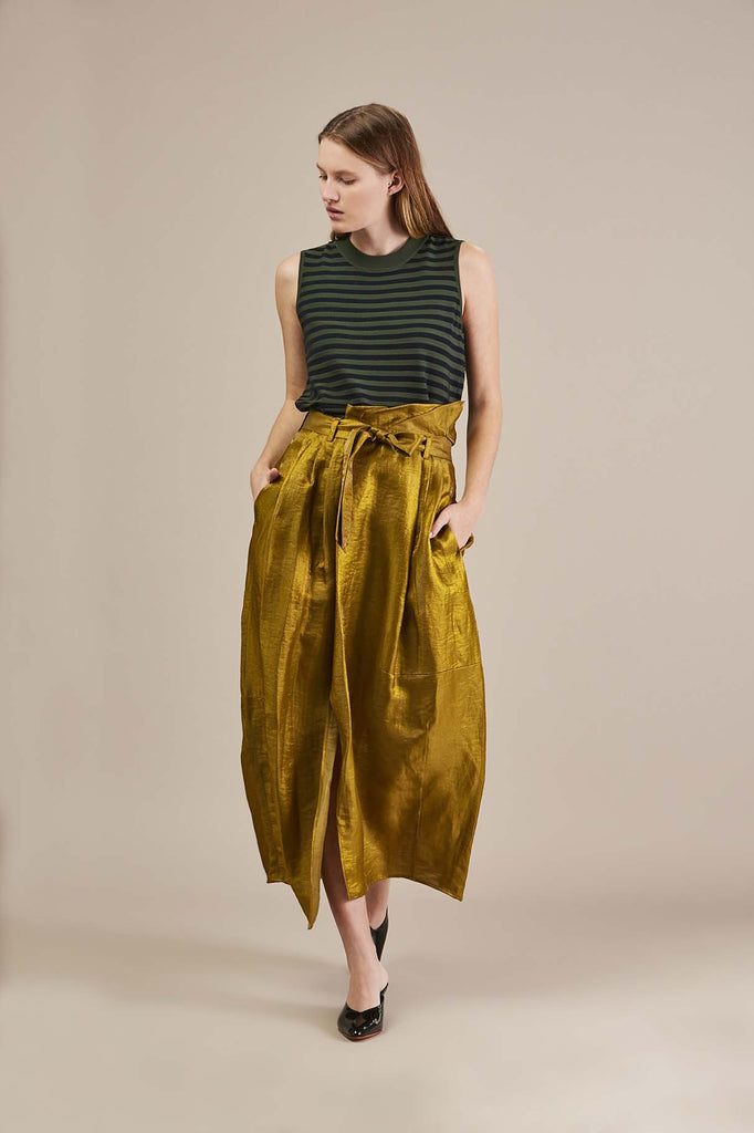 Svel Paper bag long skirt