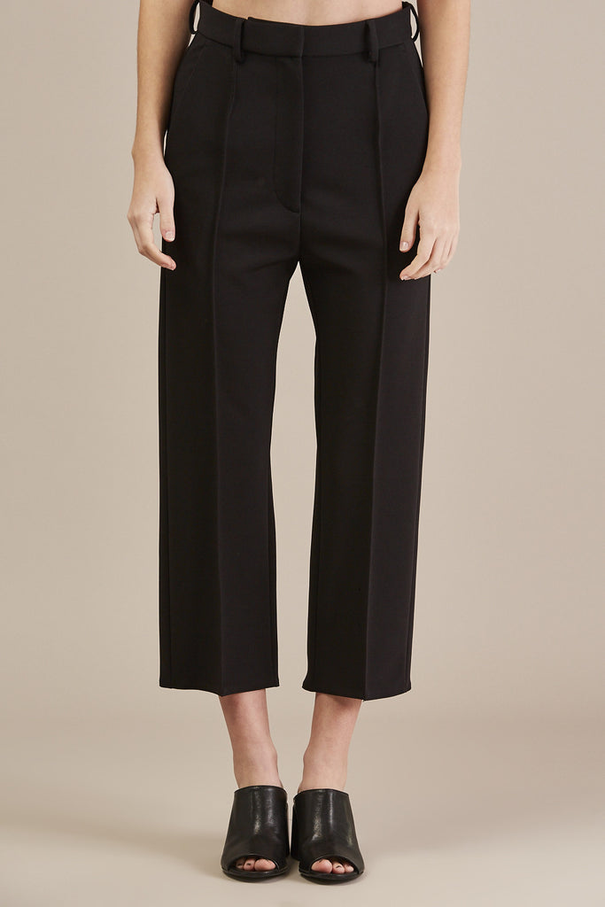 Pleated pant, black