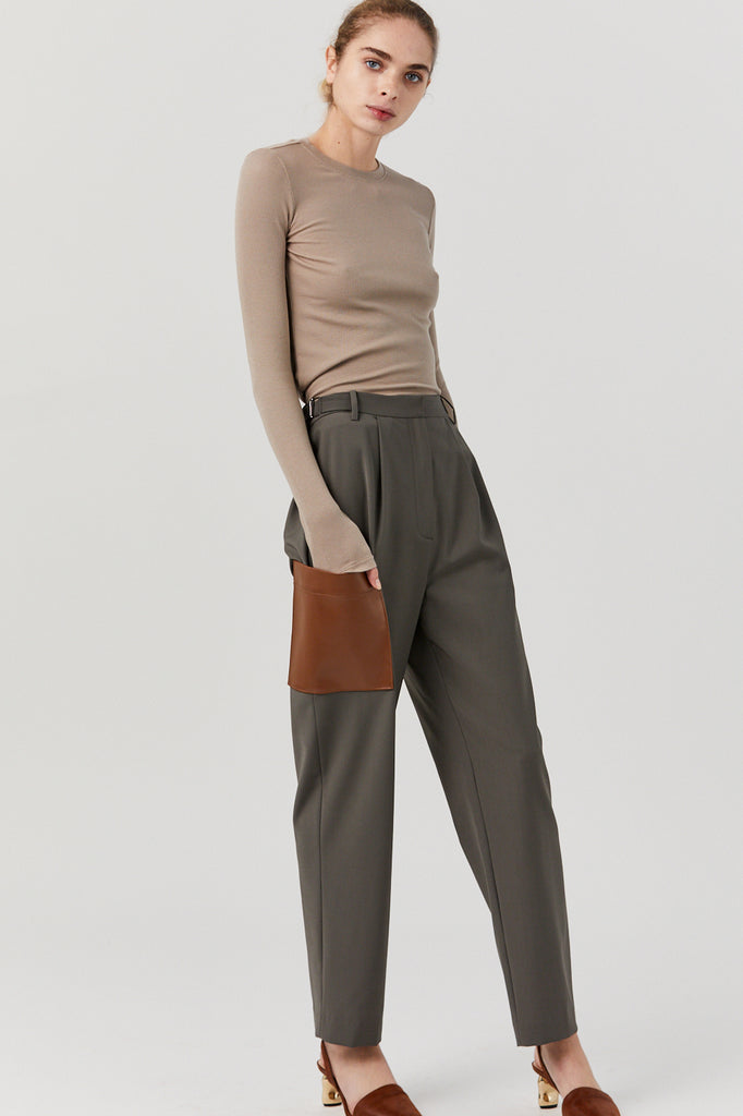 TABLIER Straight Leg Paperbag Pant