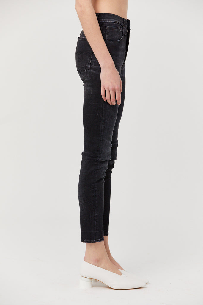 R13 - High Rise Skinny, Black Marble
