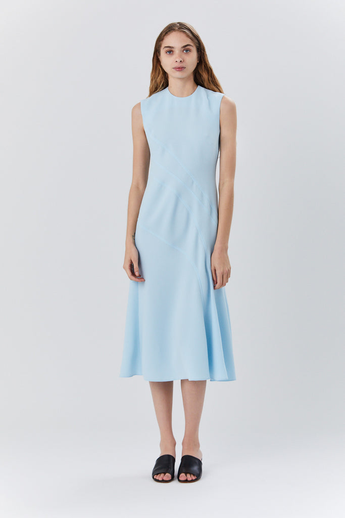 Sleeveless Dress, Light Blue