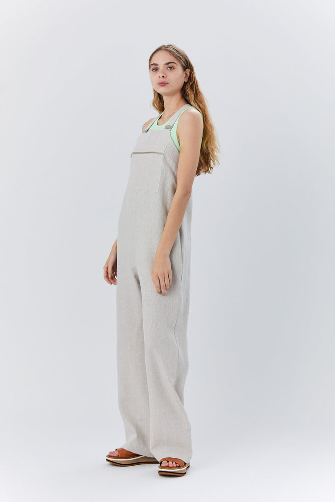 Overall Jumpsuit, Flax Linen