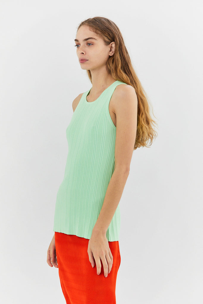 NOMIA DESIGN - Ribbed Tank, Mint Green
