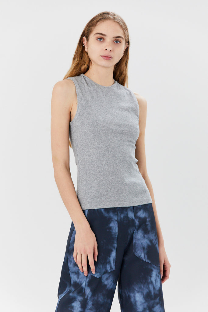 TIBI - Terry Fitted Tank , Grey