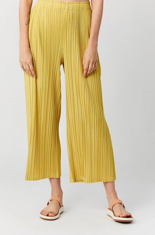 Mellow Pleats Pants, Canary