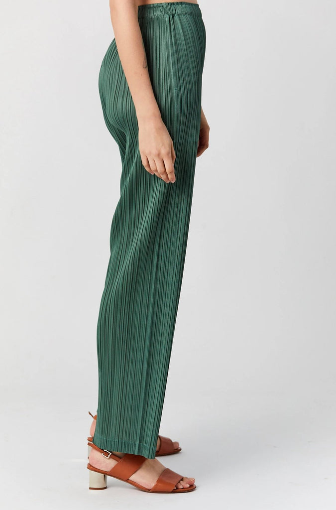 PLEATS PLEASE BY ISSEY MIYAKE - Pleats Monthly Colors Pants, Green