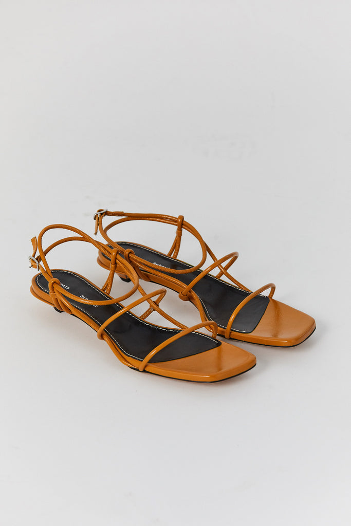 Strappy sandals, brown