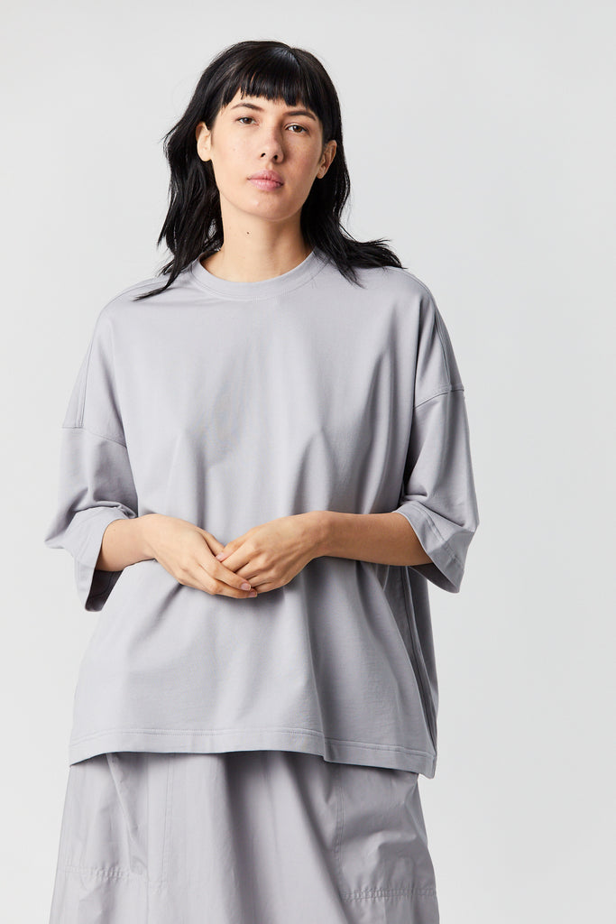 Temper fine cotton top, Silver