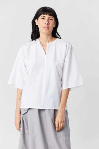 Cotton Popover Shirt, White