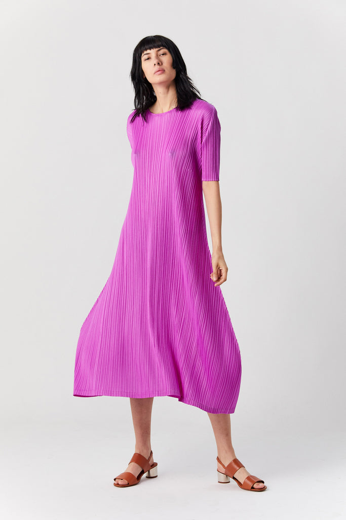 PLEATS PLEASE BY ISSEY MIYAKE - Monthly Color Dress, Magenta
