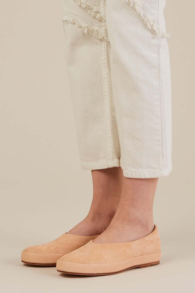 Hand Sewn Ballet Shoes in Natural Suede by Feit