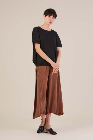 Solid cropped pant, brown
