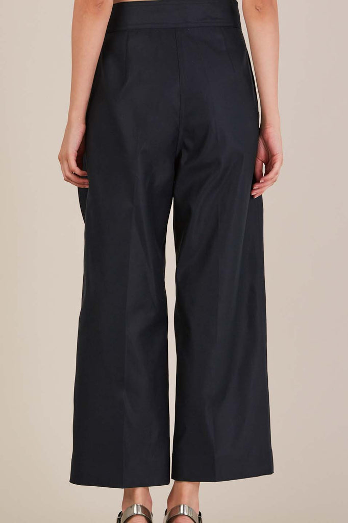 Pelican tie pants in Midnight by Sofie D'Hoore