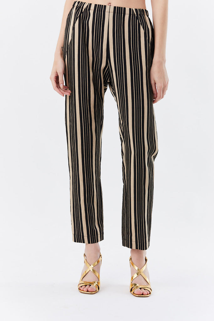 Zero + Maria Cornejo - tabi pant, Black and Almond