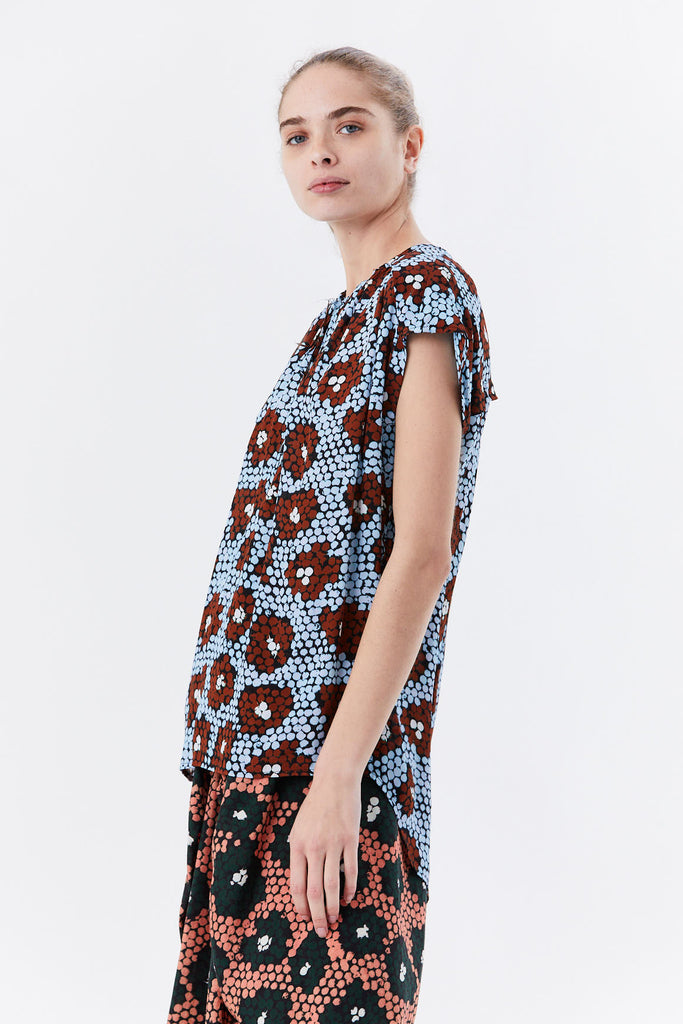Christian Wijnants - TAPANGA tie top, Blue