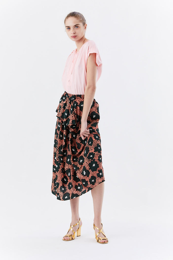 Christian Wijnants - SAGGIE ruffle skirt, Coral