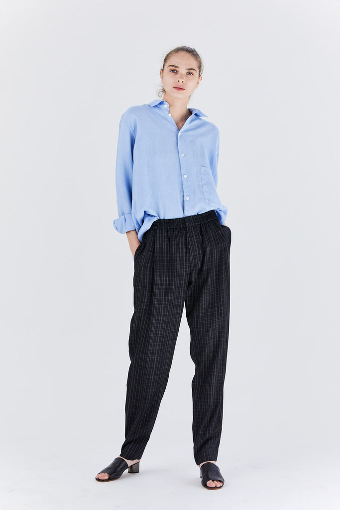 trousers seaside, navy stripe