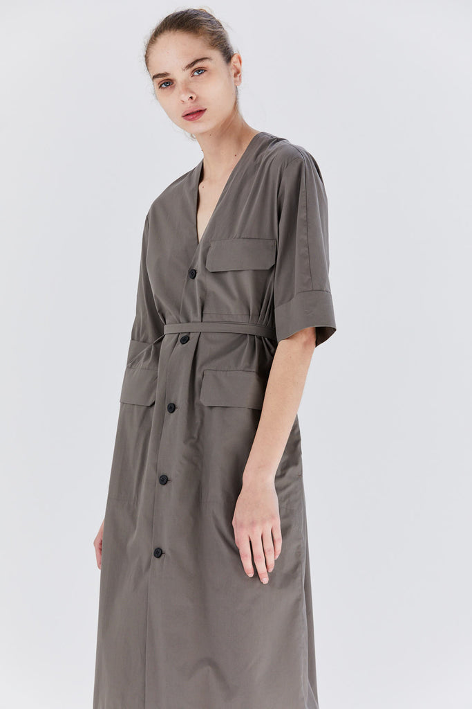 Hardware dress, Khaki