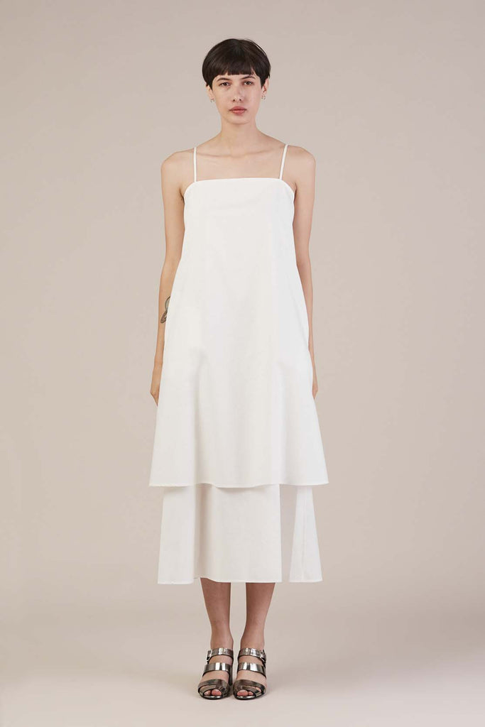 Lhasa Dress in White by Tibi