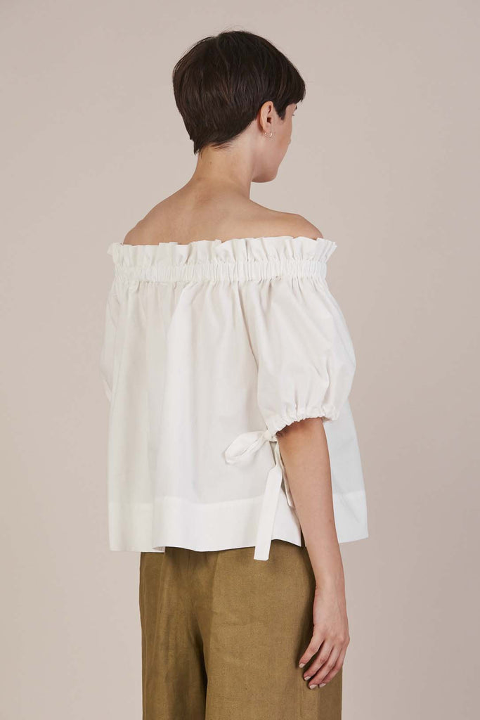 Hysperia Top in White by Tibi