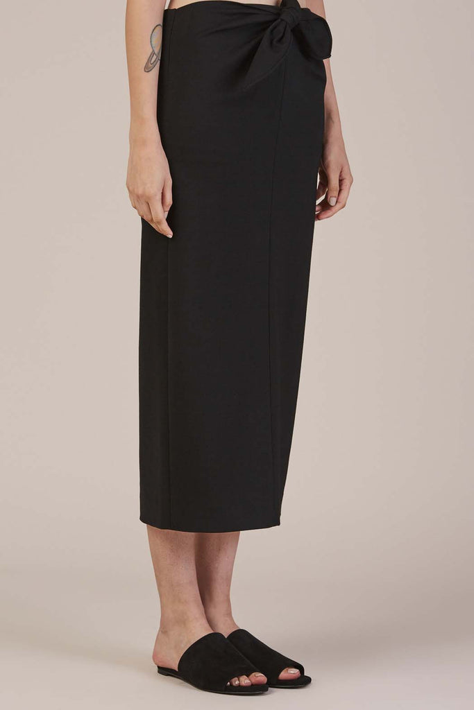 Tie Knot Pencil Skirt Black by Tibi