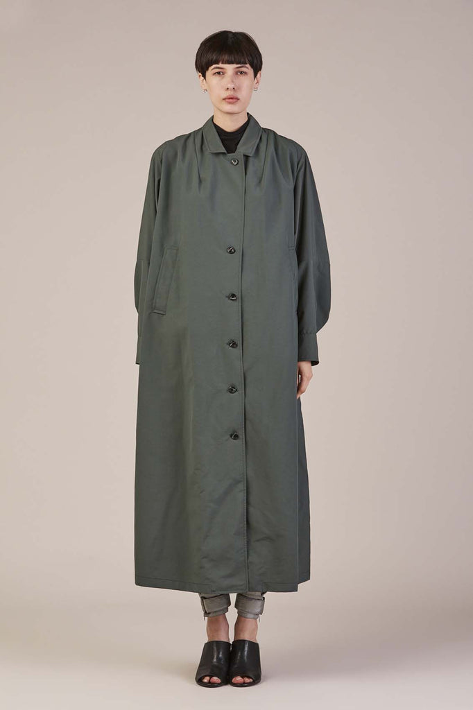 Kilo Trench Coat in Military by Rachel Comey