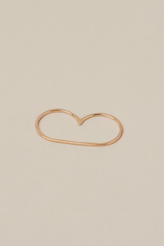 Infinite Staple Ring in Rose Gold by Gabriela Artigas