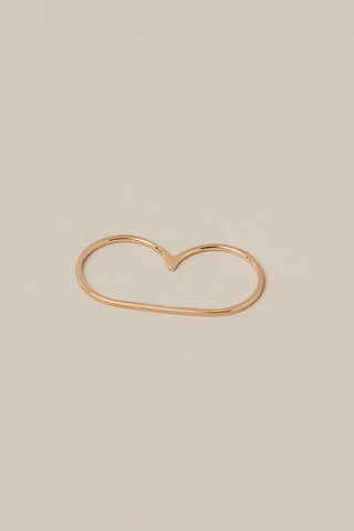 Infinite Staple Ring, Rose Gold