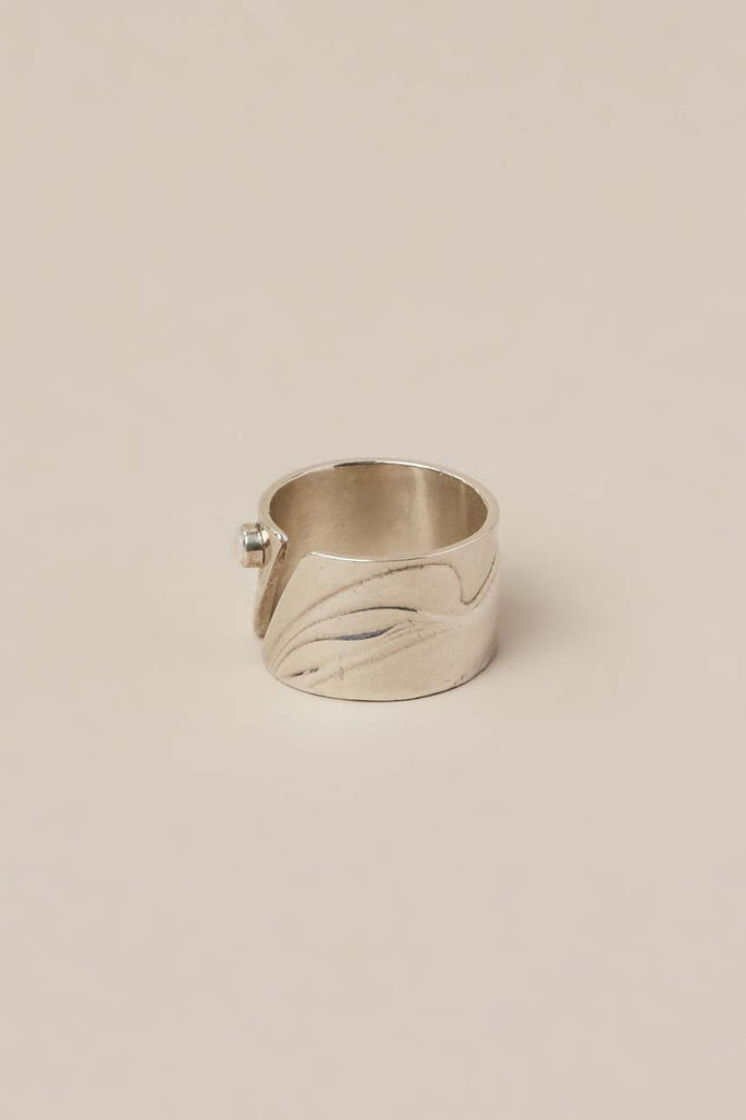 Diagonal Cut Out Ring by Leigh Miller