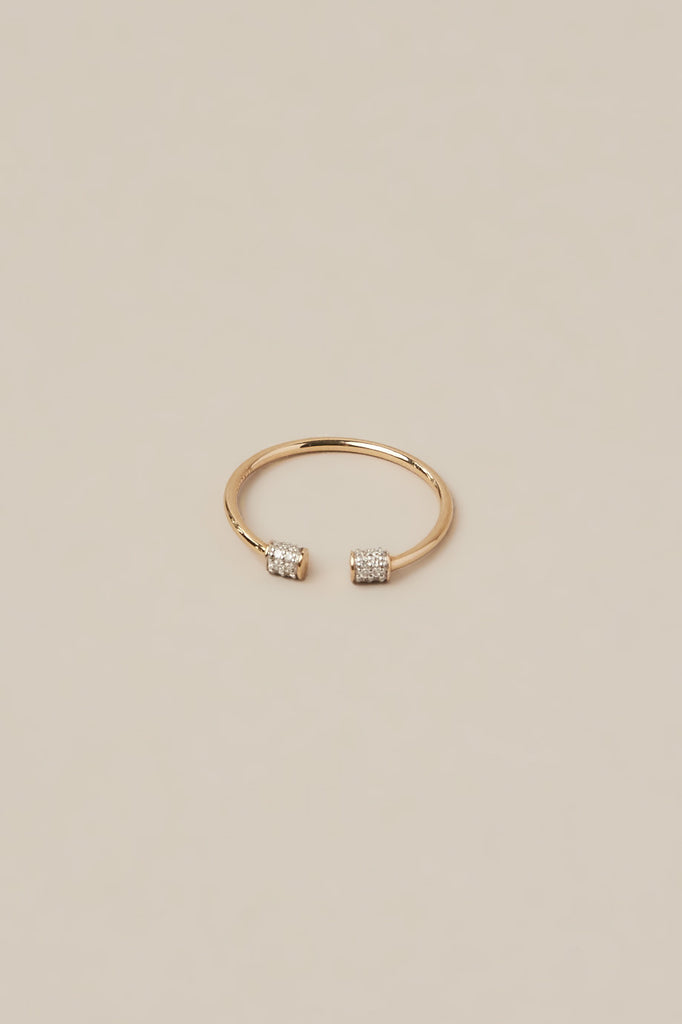 Single Diamond Choker Ring by Gabriela Artigas